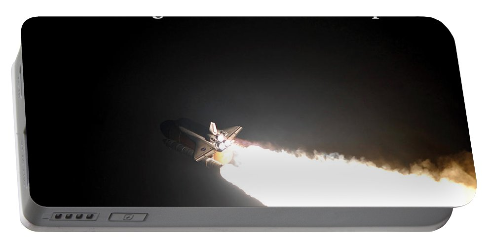 Space Shuttle Portable Battery Charger featuring the photograph Launched And Heading Towards The Stratosphere by G Matthew Laughton