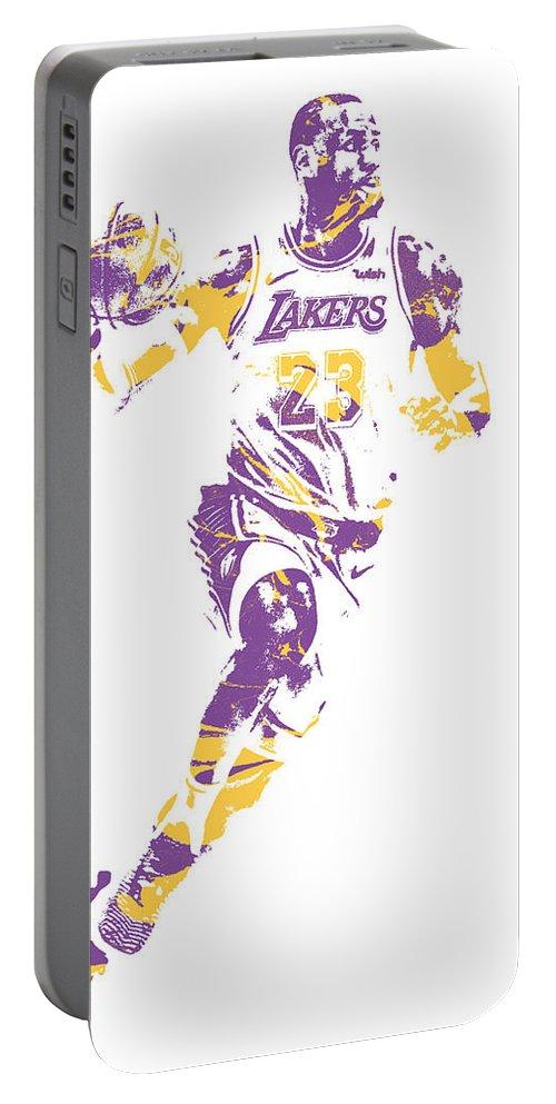 175911d6723 Lebron James Los Angeles Lakers Pixel Art 2 Portable Battery Charger for  Sale by Joe Hamilton