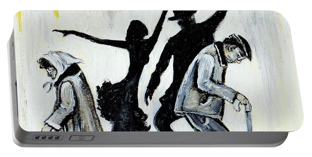 Love Portable Battery Charger featuring the painting Lets Get Back To THIS by Artist RiA