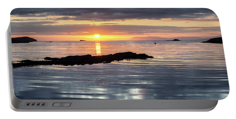 Lochmaddy Portable Battery Charger featuring the photograph Lochmaddy Sunrise by Richard Burdon