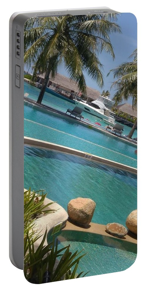 Water Portable Battery Charger featuring the photograph Maldivies by Aswini Moraikat Surendran