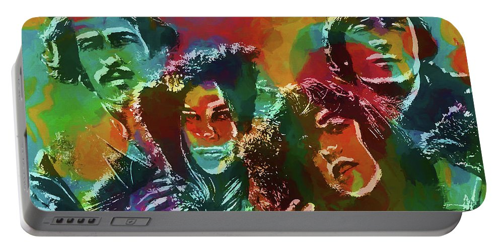 Mamas And The Papas Portable Battery Charger featuring the painting Mamas And The Papas by Dan Sproul