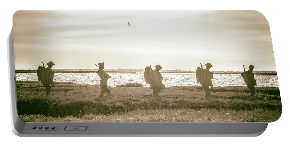 Beach Portable Battery Charger featuring the photograph Marshlands by Martin Newman