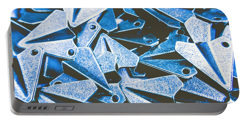 Aerplane Portable Battery Charger featuring the photograph Metallic Airfield by Jorgo Photography - Wall Art Gallery