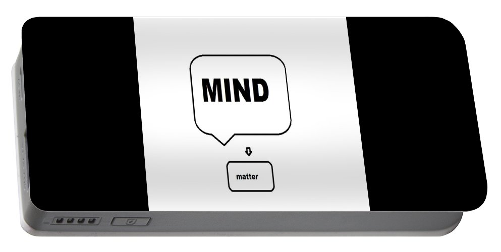 Print Portable Battery Charger featuring the digital art Mind over matter by Andrew Johnson
