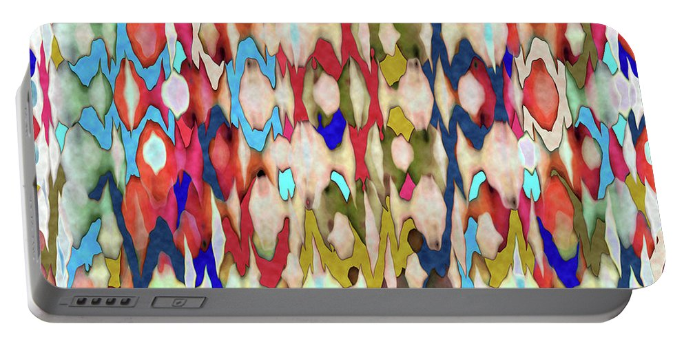 Abstract Portable Battery Charger featuring the digital art Mind Over Matter by Ruth Palmer