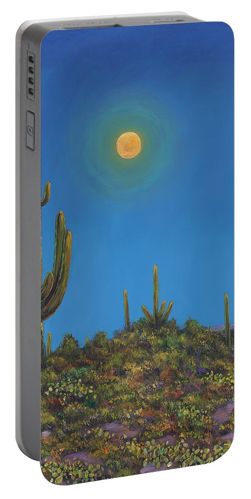 Arizona Portable Battery Charger featuring the painting Moonlight Serenade by Johnathan Harris