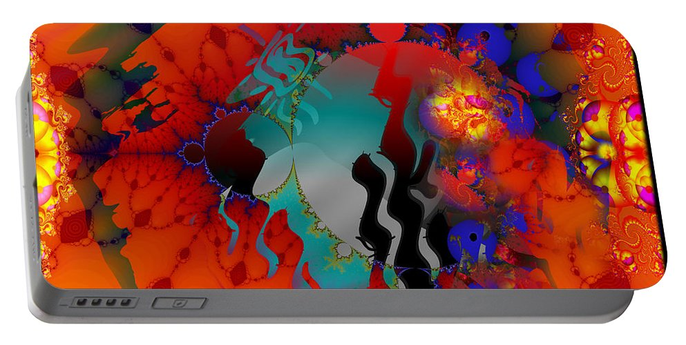 Warm Portable Battery Charger featuring the digital art Navajo Sunset- by Robert Orinski