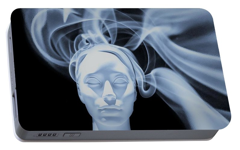 Network Portable Battery Charger featuring the digital art Network by ArtMarketJapan