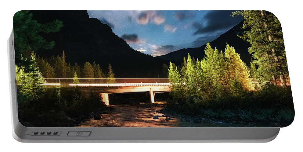 Landscape Portable Battery Charger featuring the photograph Night Lights by Mogli Maureal