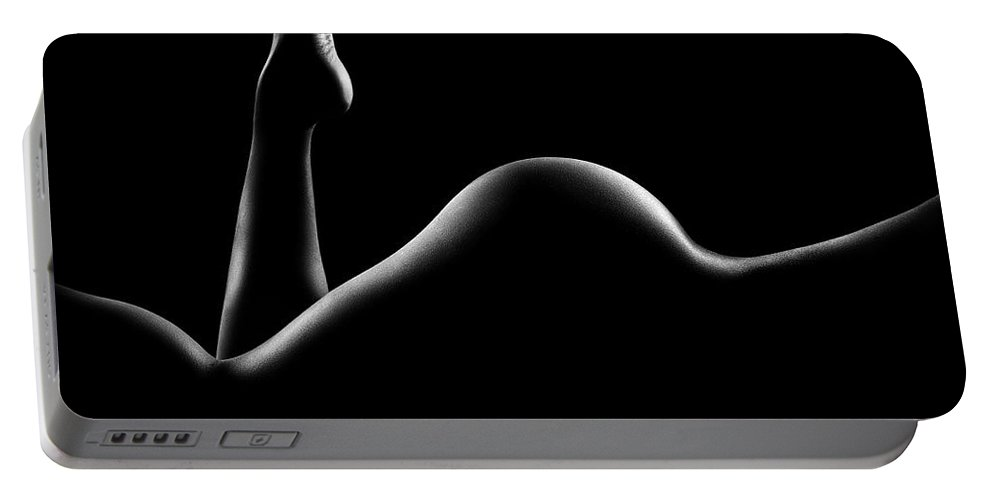 Woman Portable Battery Charger featuring the photograph Nude woman bodyscape 14 by Johan Swanepoel
