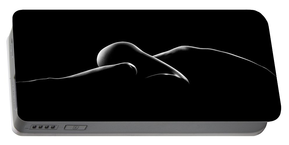 Woman Portable Battery Charger featuring the photograph Nude Woman Bodyscape 7 by Johan Swanepoel