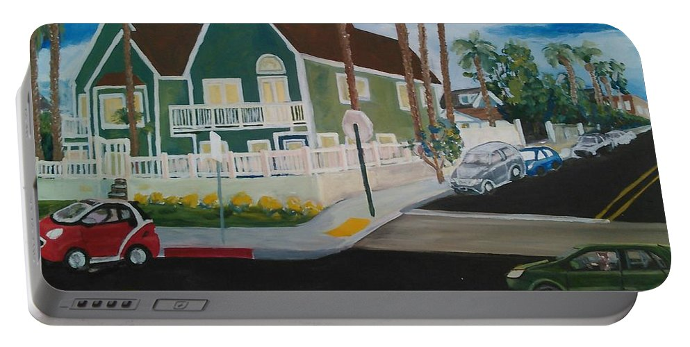 Painting Portable Battery Charger featuring the painting OB House by Andrew Johnson
