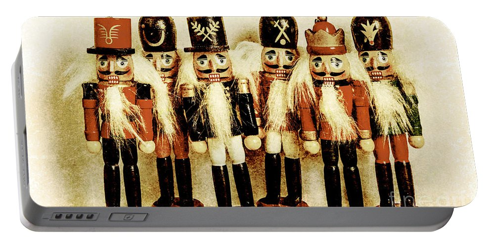 Xmas Portable Battery Charger featuring the photograph Old Nutcracker Brigade by Jorgo Photography - Wall Art Gallery