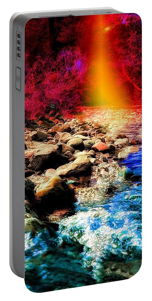 Shore Portable Battery Charger featuring the photograph On The Shore Of Avalon by Patricia Piotrak
