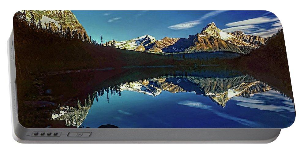 Mountains Portable Battery Charger featuring the photograph On The Trail by Steve Harrington