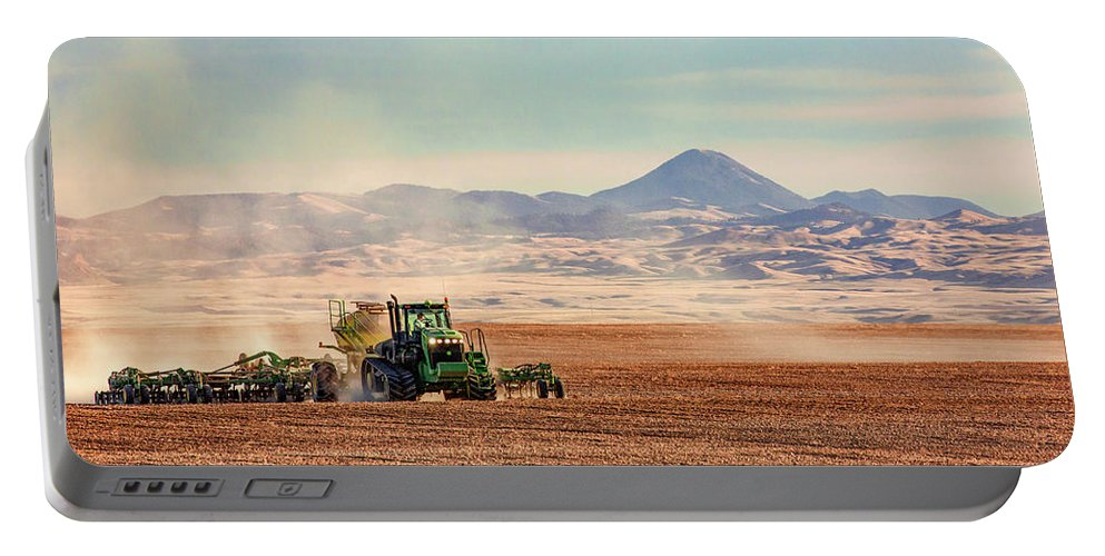 Organic Portable Battery Charger featuring the photograph Organic Seeding by Todd Klassy