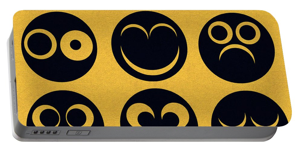 Othello Portable Battery Charger featuring the digital art Othello Minimalsim Cover Art by David Lee Thompson