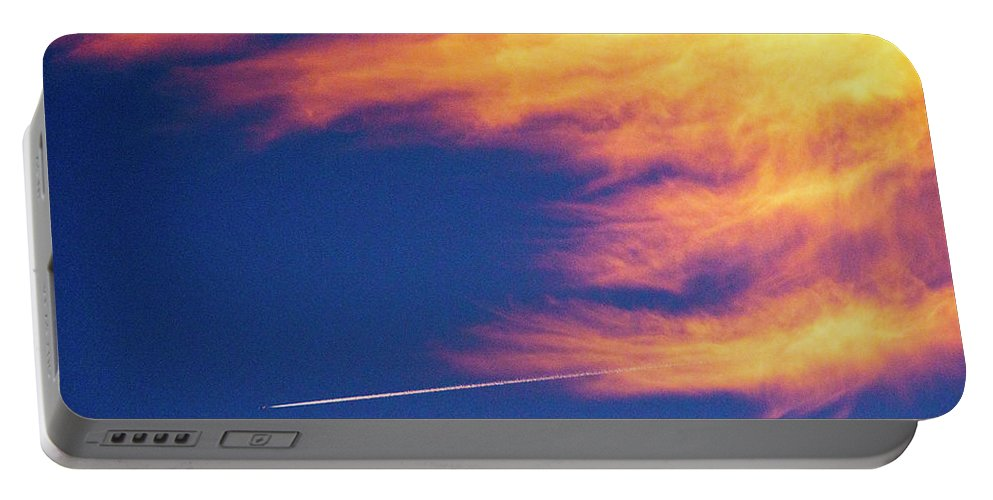 D1-l-1076-d Portable Battery Charger featuring the photograph Out Racing The Devil by Paul W Faust - Impressions of Light