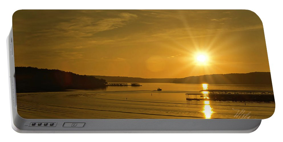 Lake Of The Ozarks Portable Battery Charger featuring the photograph Ozark Sunrise by Meta Gatschenberger