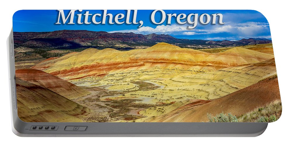 Painted Hills Portable Battery Charger featuring the photograph Painted Hills 01 by G Matthew Laughton