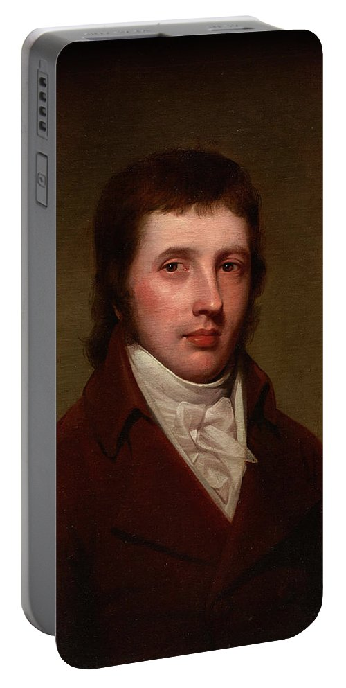 Portrait Of A Man Portable Battery Charger featuring the painting Portrait Of A Man by Rembrandt Peale