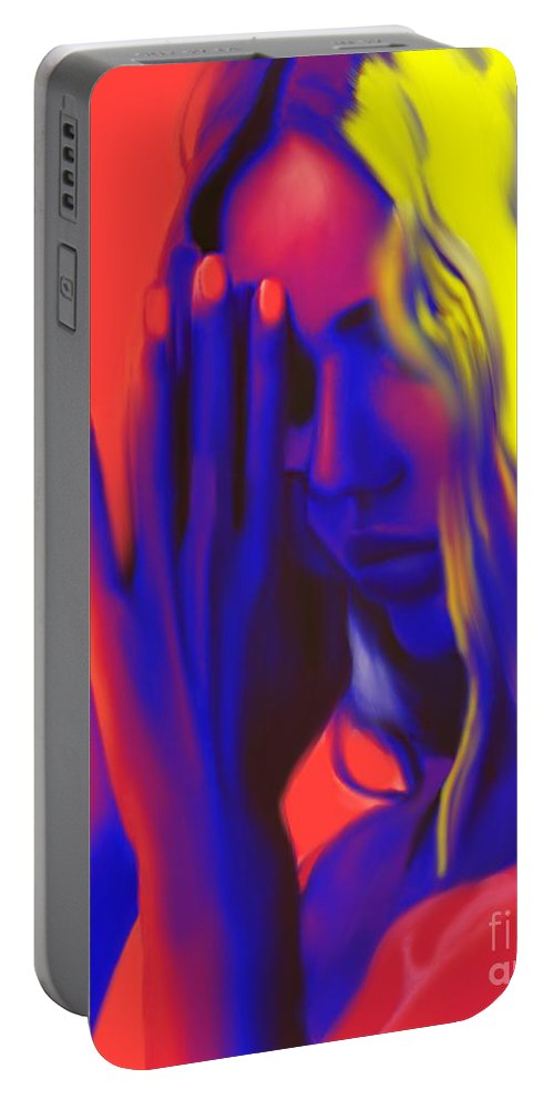Pray Portable Battery Charger featuring the painting Prayers For The Forgotten by Jack Bunds