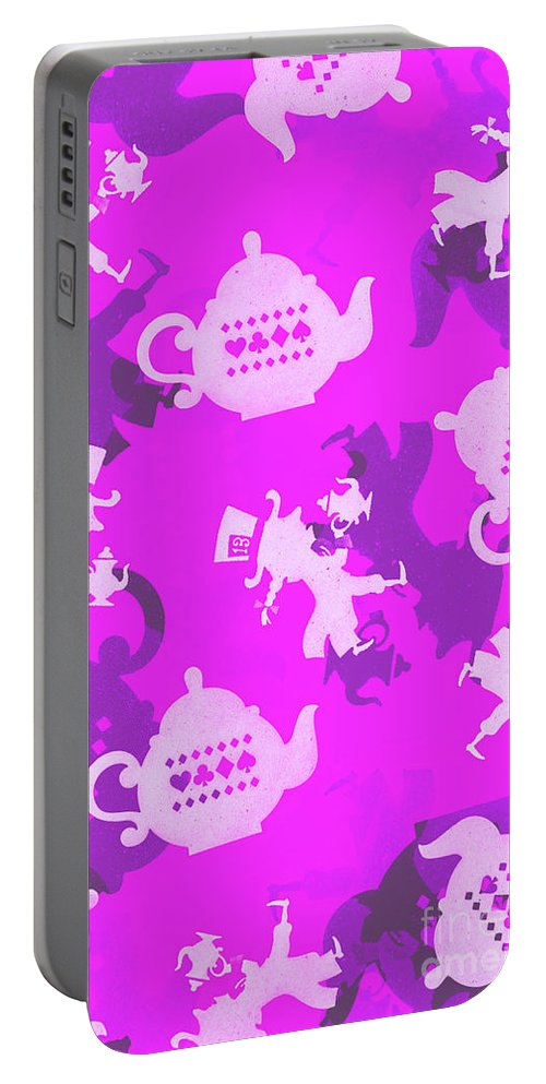 Tea Party Portable Battery Charger featuring the photograph Purple Tea Party by Jorgo Photography - Wall Art Gallery