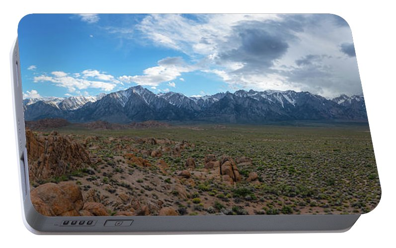 Sunrise Portable Battery Charger featuring the photograph Rain Storm Meets Clear Skies by Michael Ver Sprill