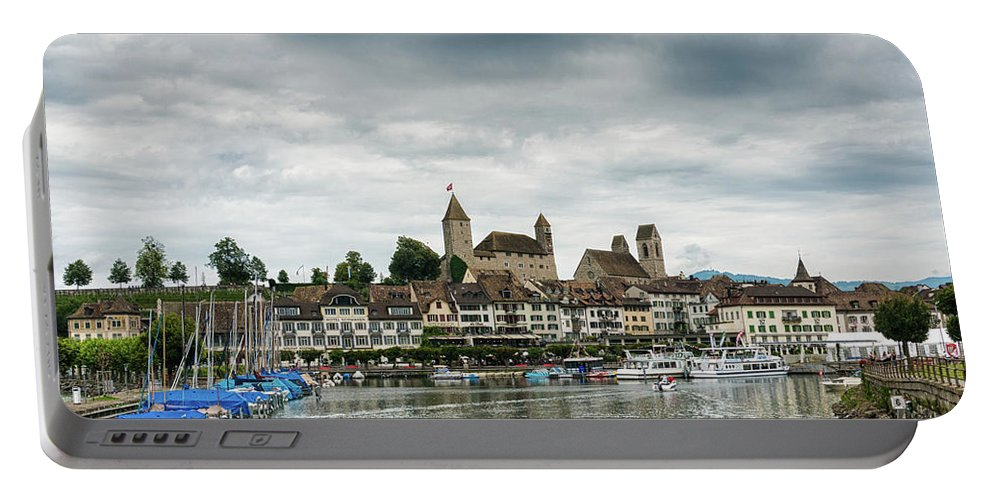 Rapperswil Portable Battery Charger featuring the photograph Rapperswil Castle by DiFigiano Photography