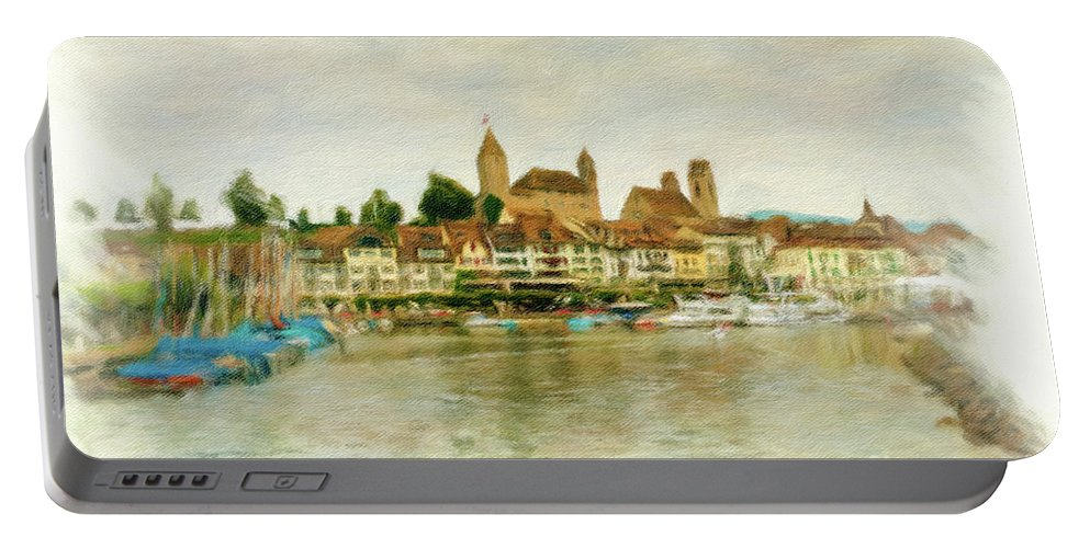 Rapperswil Portable Battery Charger featuring the photograph Rapperswil Cityscape 1 by DiFigiano Photography