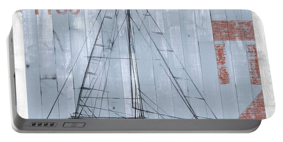 Home Portable Battery Charger featuring the painting Regatta II by Studio W