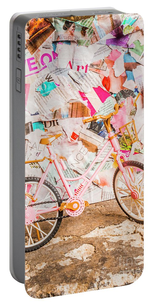 Urban Portable Battery Charger featuring the photograph Retro City Cycle by Jorgo Photography - Wall Art Gallery