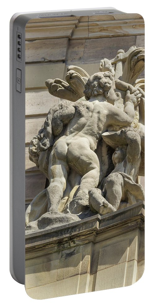 Alsace Portable Battery Charger featuring the photograph Rohan Palace Sculpture by Teresa Mucha