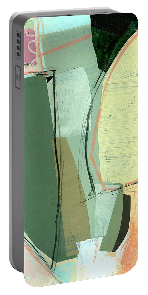 Abstract Art Portable Battery Charger featuring the painting Sandwashed #19 by Jane Davies