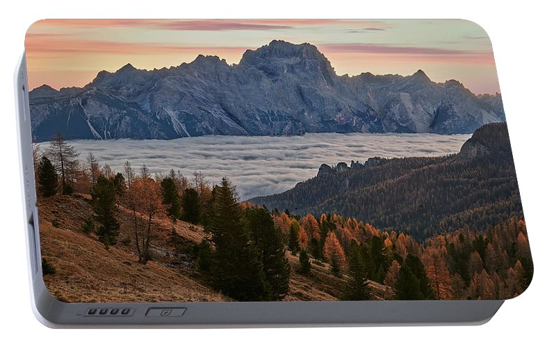 Dolomites Portable Battery Charger featuring the photograph Sea Of Clouds In The Dolomites by Jon Glaser