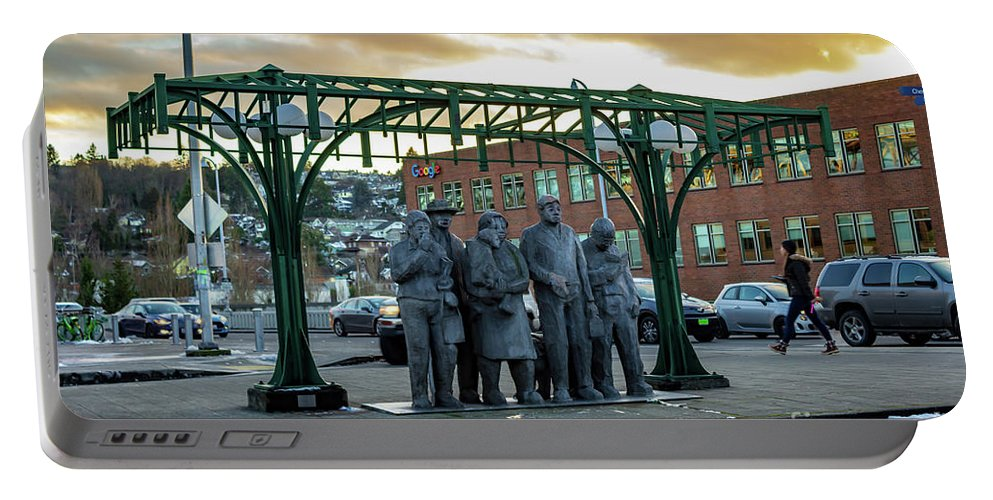 Seattle's Fremont District Portable Battery Charger featuring the photograph Seattle's Fremont District by G Matthew Laughton