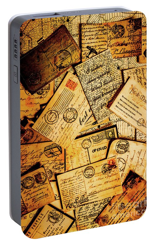 Antique Portable Battery Charger featuring the photograph Sentimental Writings by Jorgo Photography - Wall Art Gallery