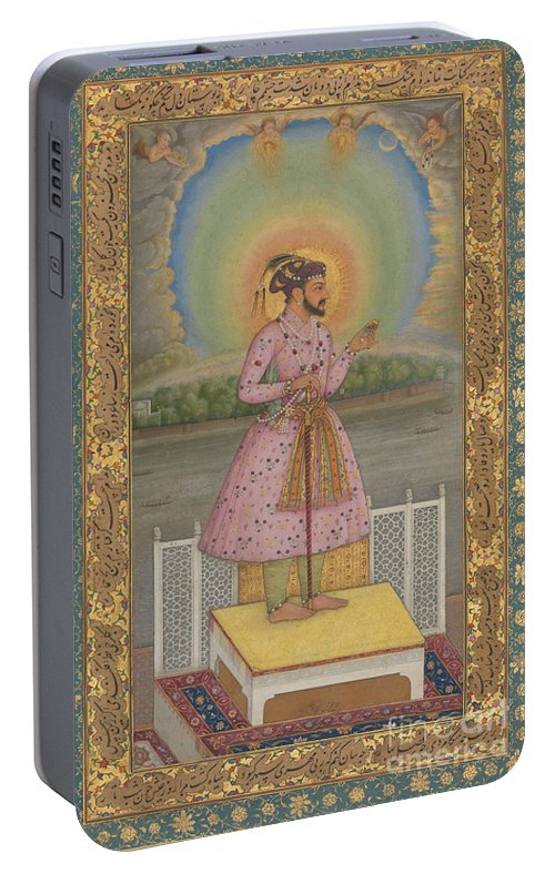 Indian Portable Battery Charger featuring the painting Shah Jahan On A Terrace by Chitarman