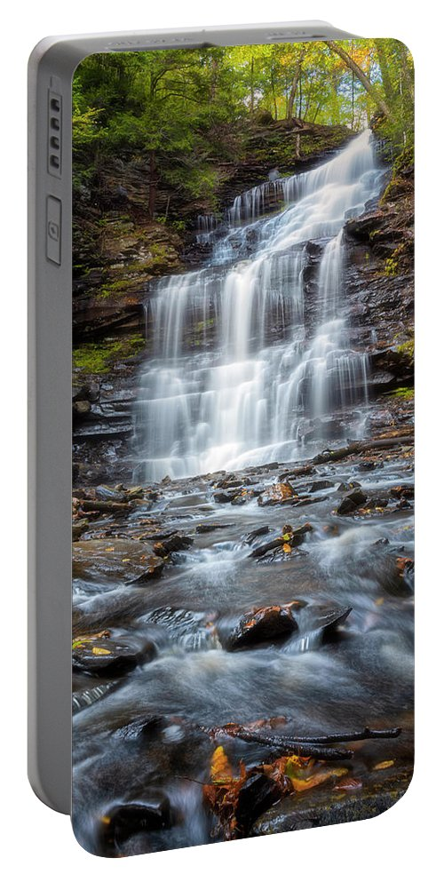 Silky Flow Portable Battery Charger featuring the photograph Silky Flow by Russell Pugh