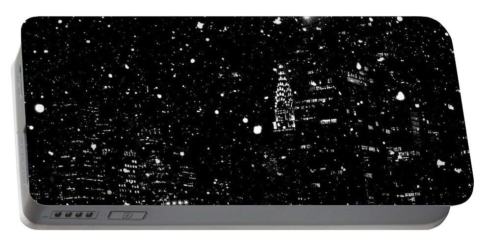 Snow Portable Battery Charger featuring the digital art Snow Collection Set 06 by Az Jackson