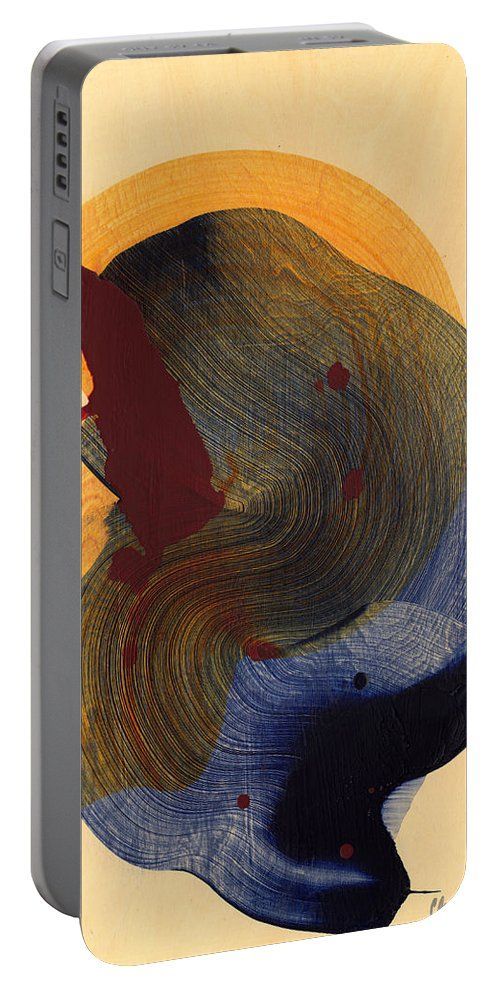 Abstract Portable Battery Charger featuring the painting Socal 03 by Claire Desjardins