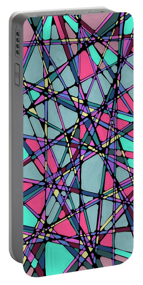 Nonobjective Portable Battery Charger featuring the digital art Spaces We Inhabit #010 by James Fryer