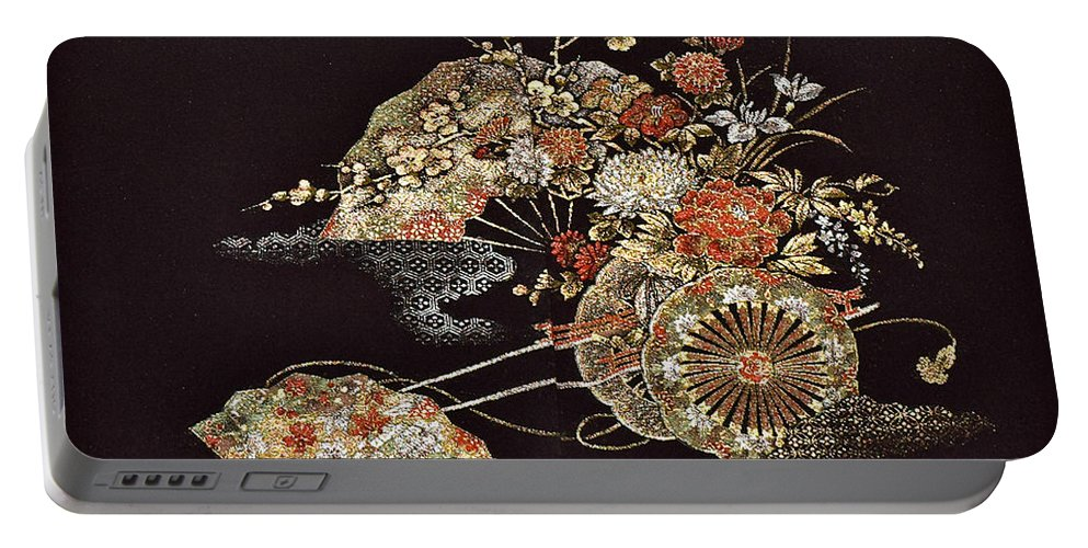 Portable Battery Charger featuring the digital art Spirit of Japan H2 by Miho Kanamori