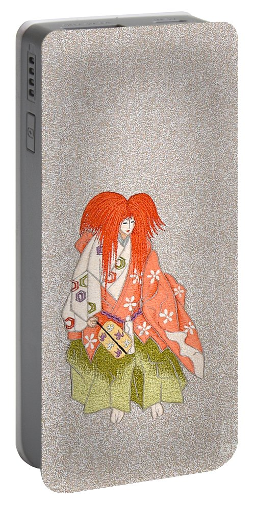 Portable Battery Charger featuring the digital art Spirit of Japan O22 by Miho Kanamori