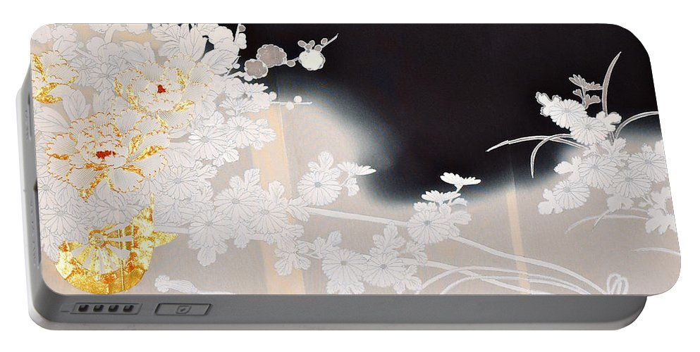 Portable Battery Charger featuring the digital art Spirit of Japan T10 by Miho Kanamori