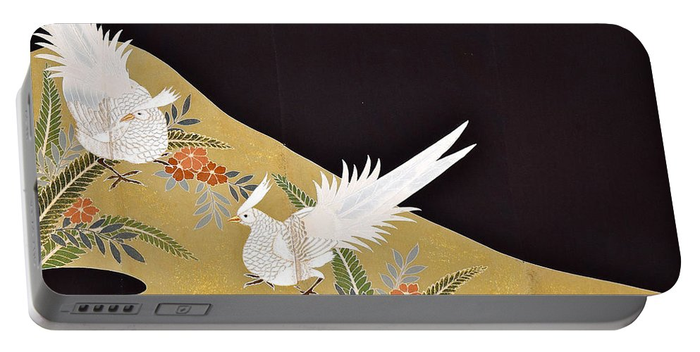 Portable Battery Charger featuring the digital art Spirit of Japan T28 by Miho Kanamori