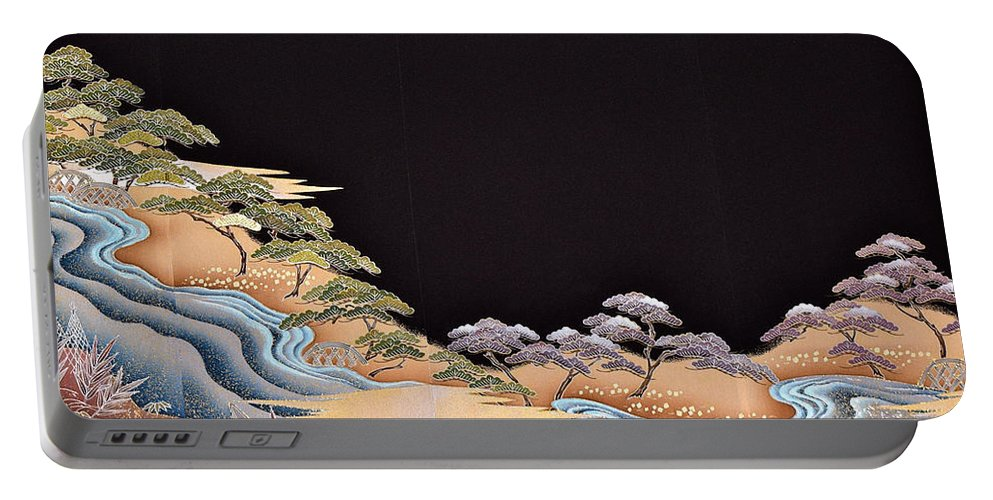 Portable Battery Charger featuring the digital art Spirit of Japan T38 by Miho Kanamori
