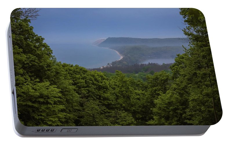 Sleeping Bear Dunes Lakeshore Portable Battery Charger featuring the photograph Stormy Day On Sleeping Bear Dunes by Dan Sproul