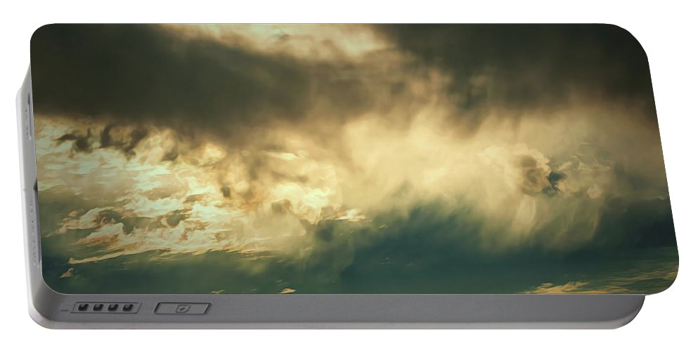 Art Portable Battery Charger featuring the digital art Sunglow Clouds by Michael Campbell